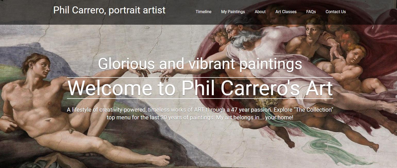 Phil Carrero, portrait painter